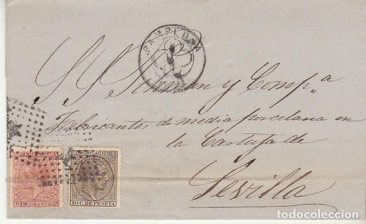 SELLOS 188 Y 192. PAMPLONA A SEVILLA. 1878. (Sellos - España - Alfonso XII de 1.875 a 1.885 - Cartas)