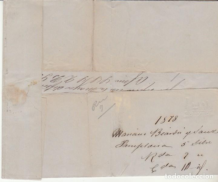 Sellos: Sellos 188 y 192. PAMPLONA a SEVILLA. 1878. - Foto 3 - 172711838