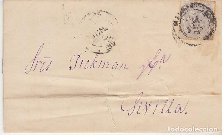 LUTO: SELLO 204. ALFONSO XII. MALAGA A SEVILLA . 1879. (Sellos - España - Alfonso XII de 1.875 a 1.885 - Nuevos)