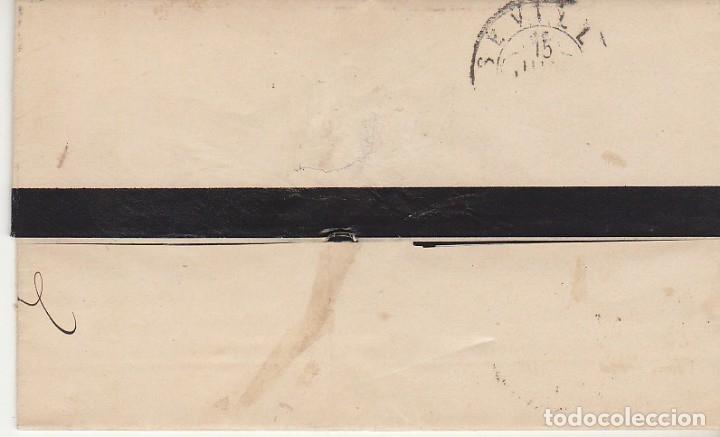 Sellos: LUTO: Sello 204. ALFONSO XII. MALAGA a SEVILLA . 1879. - Foto 2 - 172779054