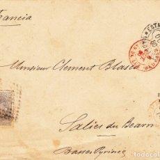 Sellos: SOBRE CON SELLO DE COMUNICACIONES 25 CTMS. MATASELLOS DE ROMBO -1880- ESTAFETA DE CAMBIO MADRID. Lote 172834892