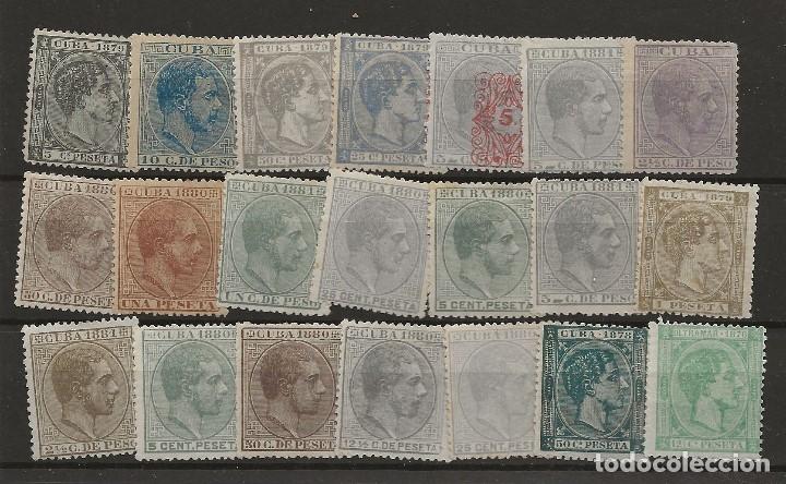 R8/ CUBA, LOTE DE SELLOS NUEVOS */(*), ALFONSO XII (Sellos - España - Alfonso XII de 1.875 a 1.885 - Nuevos)