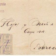 Sellos: LUTO. 173 (PAREJA). VALENCIA A BARCELONA. 1920.. Lote 173404333