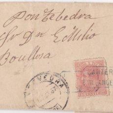Timbres: F8-14-CARTA COMPLETA CARTERÍA VILLANUEVA (TOLEDO) - PONTEVEDRA 1887. Lote 175225938