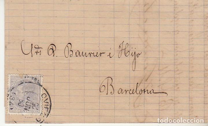 SELLO 204. OVIEDO A BARCELONA.1880. (Sellos - España - Alfonso XII de 1.875 a 1.885 - Cartas)