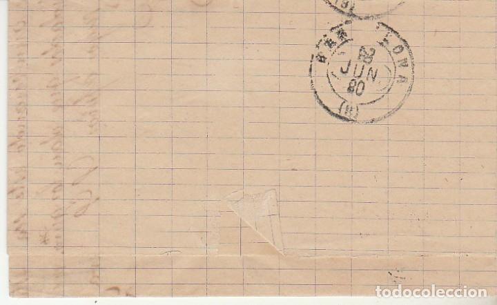 Sellos: Sello 204. OVIEDO a BARCELONA.1880. - Foto 2 - 175342117
