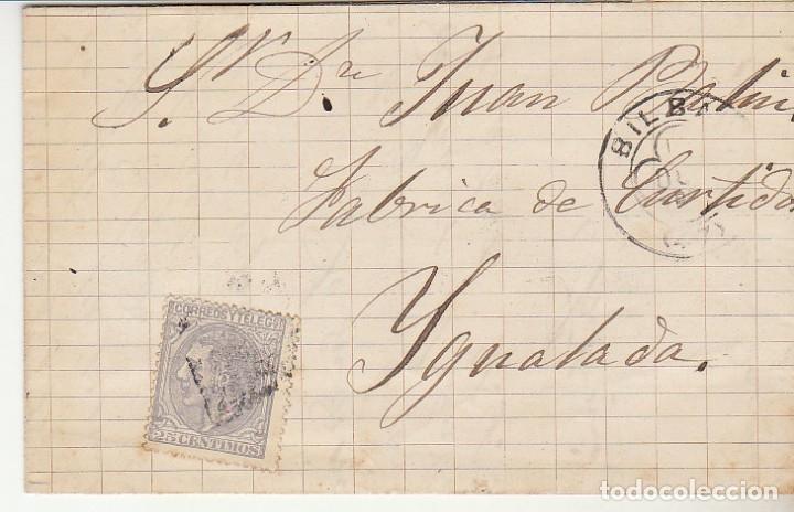 SELLO 204. BILBAO A YGUALADA.1880 (Sellos - España - Alfonso XII de 1.875 a 1.885 - Cartas)