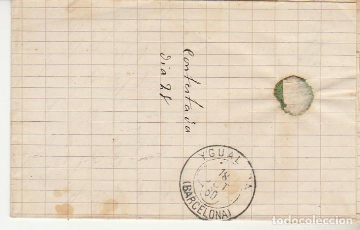 Sellos: Sello 204. BILBAO a YGUALADA.1880 - Foto 2 - 175342434