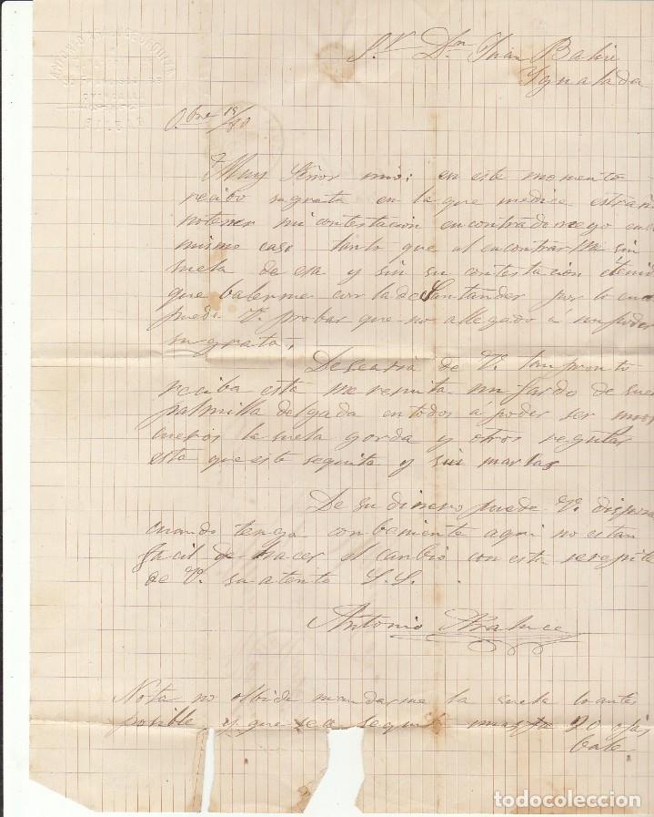 Sellos: Sello 204. BILBAO a YGUALADA.1880 - Foto 3 - 175342434