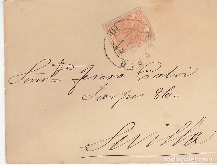 SOBRE: SELLO 210. MADRID A SEVILLA. 1887. (Sellos - España - Alfonso XII de 1.875 a 1.885 - Cartas)