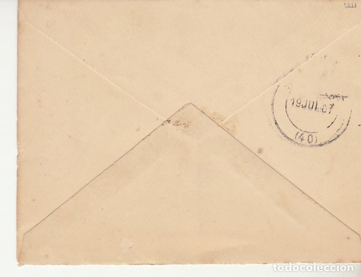 Sellos: SOBRE: Sello 210. MADRID a SEVILLA. 1887. - Foto 2 - 175344180