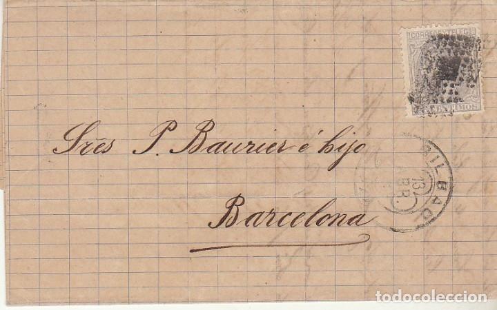 SELLO 204. BILBAO A BARCELONA. 1880. (Sellos - España - Alfonso XII de 1.875 a 1.885 - Cartas)