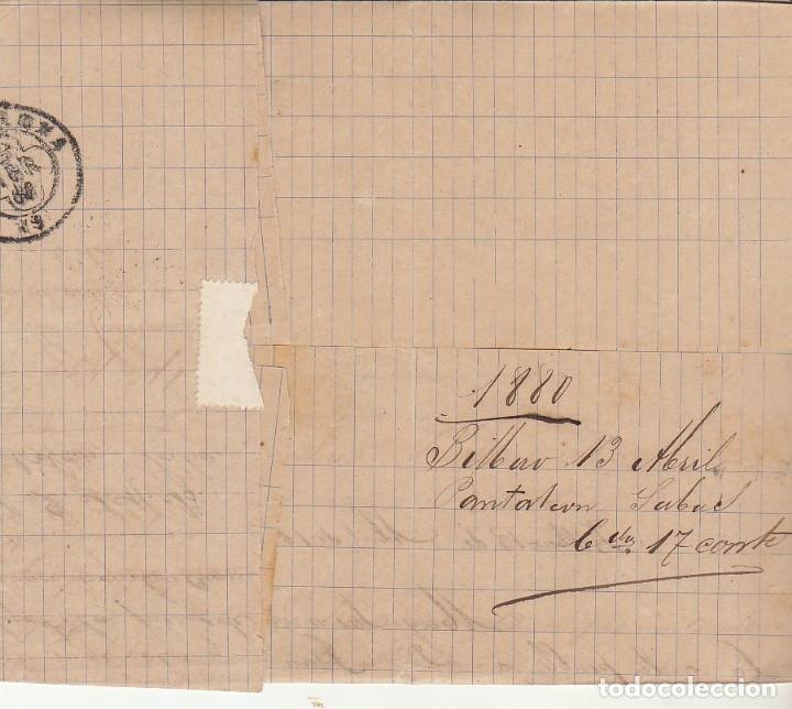 Sellos: Sello 204. BILBAO a BARCELONA. 1880. - Foto 2 - 175344730