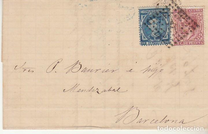 SELLOS 175 Y 188. PALMA A BARCELONA. 1877. (Sellos - España - Alfonso XII de 1.875 a 1.885 - Cartas)