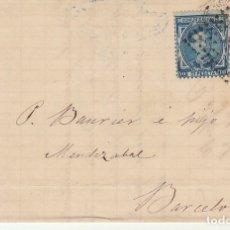 Sellos: SELLOS 175 Y 188. PALMA A BARCELONA. 1877. . Lote 175502315