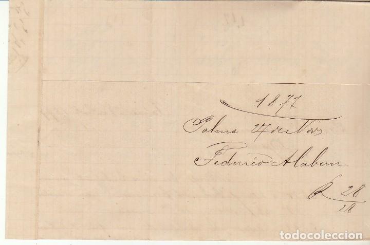 Sellos: Sellos 175 y 188. PALMA a BARCELONA. 1877. - Foto 2 - 175502315