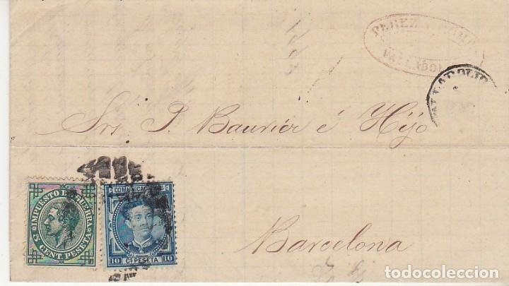 SELLOS 175 Y 183. VALLADOLID A BARCELONA.1877. (Sellos - España - Alfonso XII de 1.875 a 1.885 - Cartas)
