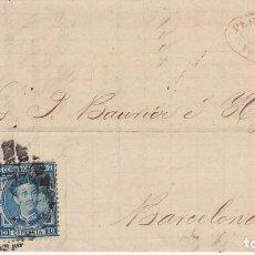 Sellos: SELLOS 175 Y 183. VALLADOLID A BARCELONA.1877.. Lote 175502657