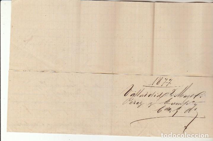 Sellos: Sellos 175 y 183. VALLADOLID a BARCELONA.1877. - Foto 2 - 175502657