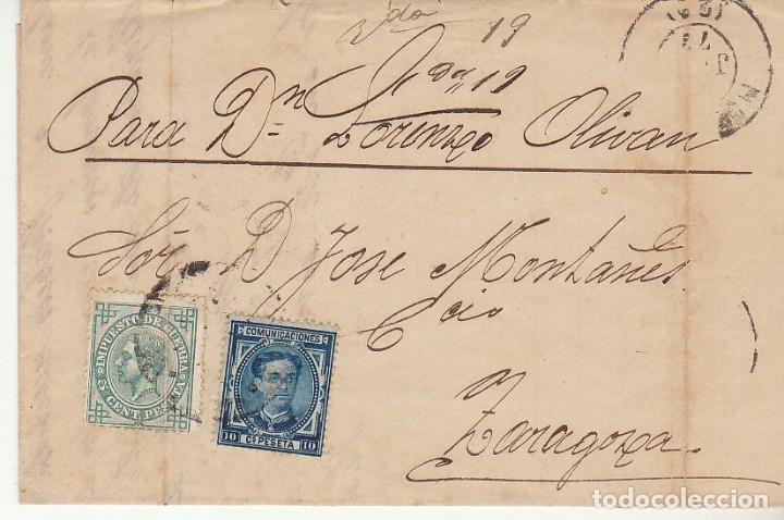 SELLOS 175 Y 183. HUESCA A ZARAGOZA. 1877. (Sellos - España - Alfonso XII de 1.875 a 1.885 - Cartas)