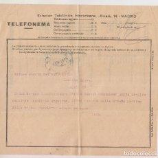 Timbres: TELEFONEMA. BILBAO, PAÍS VASCO, A MADRID. 1913.. Lote 176021325