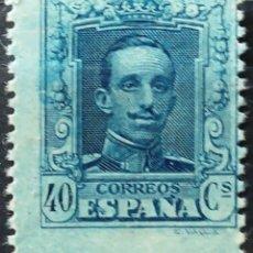 Selos: EDIFIL 319** 40C.AZUL ALFONSO XIII ( 18,00 € ). Lote 176405229