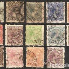 Sellos: EDIFIL Nº 213/226 USADOS ( 41,15 € ). Lote 176468523