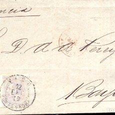 Timbres: AÑO 1879 EDIFIL 204 ALFONSO XII ENVUELTA A FRANCIA MATASELLOS VIGO PONTEVEDRA , ESPAGNE, BAYONNE. Lote 176568537