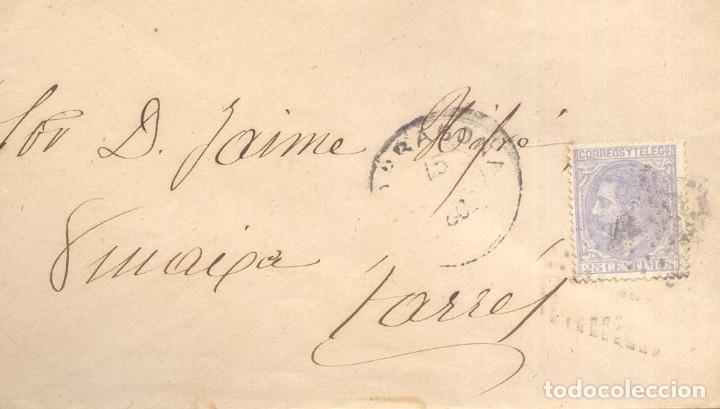 AÑO 1879 EDIFIL 204 ALFONSO XII SOBRE MATASELLOS ROMBO TARRAGONA A TARRES (Sellos - España - Alfonso XII de 1.875 a 1.885 - Cartas)