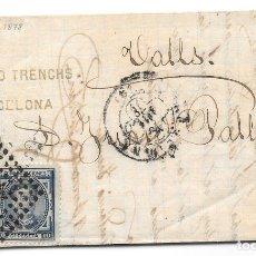 Timbres: EDIFIL 175-188. ENVUELTA CIRCULADA DE BARCELONA A VALLS 1878. Lote 177708054