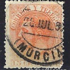 Selos: ESPAÑA 1882 - ALFONSO XII - EDIFIL 210 - USADO (O) - FECHADOR DE MURCIA. Lote 178092498