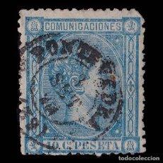 Sellos: SELLOS ESPAÑA. 1875. ALFONSO XII.10C AZUL.USADO. CARTERÍA PONTEVEDRA. EDIFIL 164. Lote 178932783