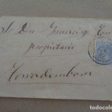 Sellos: TORREDEMBARRA. TARRAGONA. CARTA, 1880.. Lote 179237677