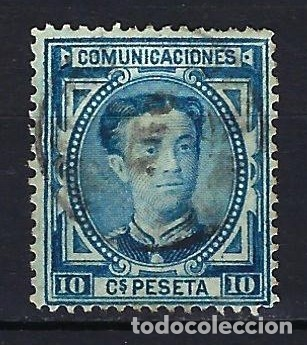 ESPAÑA - 1876 - ALFONSO XII - 10 C. DE PESETA. - EDIFIL 175 - USADO (Sellos - España - Alfonso XII de 1.875 a 1.885 - Usados)