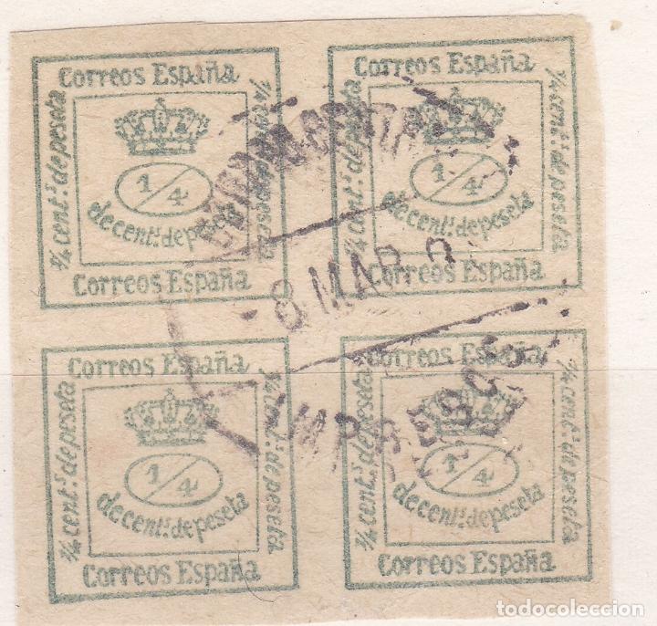 CC19- CLÁSICOS EDIFIL 173 USADO MATASELLOS HEXAGONAL CORREO CENTRAL IMPRESOS (Sellos - España - Alfonso XII de 1.875 a 1.885 - Usados)