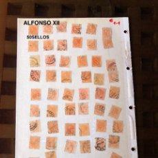 Sellos: ALFONSO XII-2(50SELLOS)(25€). Lote 180237397
