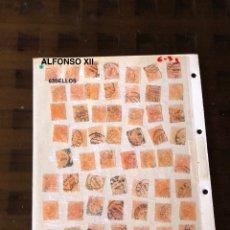 Sellos: ALFONSO XII-2(63SELLOS)(31,5€). Lote 180237701