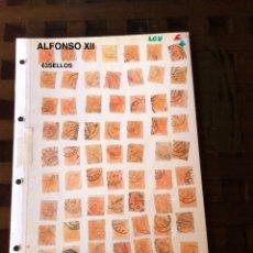 Sellos: ALFONSO XII-1(63SELLOS)(31,5€). Lote 180237780