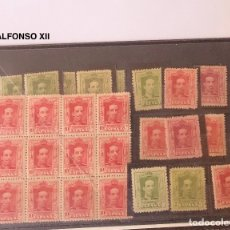 Sellos: 2-(3)-ALFONSO XII-BLOQUE DE 12+14SELLOS(26€). Lote 180238420