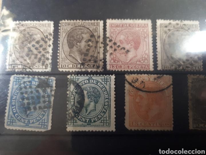 Sellos: 1 FICHA CON SELLOS USADOS AÑOS 1887 AL 98 VER DETALLES LOT.P123 - Foto 3 - 181219501