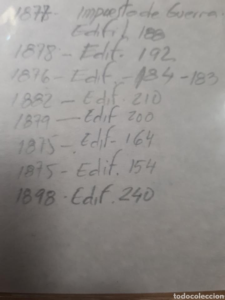 Sellos: 1 FICHA CON SELLOS USADOS AÑOS 1887 AL 98 VER DETALLES LOT.P123 - Foto 4 - 181219501
