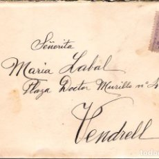 Sellos: CARTA CON FRANQUEO DE SELLO ALFONSO XIII DESTINO VENDRELL ( CARTA DE AMOR ). Lote 181346227