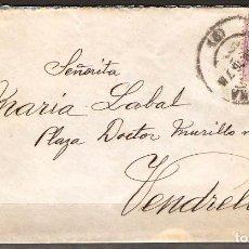Sellos: CARTA CON FRANQUEO DE SELLO ALFONSO XIII DESTINO VENDRELL ( CARTA DE AMOR ). Lote 181346328