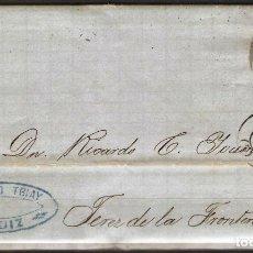 Sellos: CARTA CON FRANQUEO DE SELLO EDIFIL 107 50M ULTRAMAR DE CADIZ A JEREZ DE LA FRONTERA. Lote 181346658