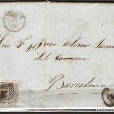 Sellos: CARTA CON FRANQUEO DE SELLO EDIFIL 107 50M ULTRAMAR DE GIRONA A BARCELONA. Lote 181346980