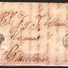 Sellos: CARTA CON FRANQUEO DE SELLO EDIFIL 107 50M ULTRAMAR DE VALLS A BARCELONA. Lote 181347117