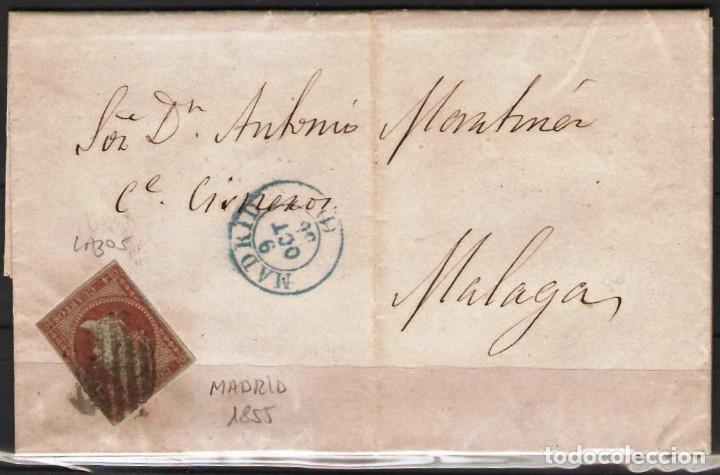 CARTA CON FRANQUEO DE SELLO EDIFIL 40 4CU ROJO DE MADRID A MALAGA (Sellos - España - Alfonso XII de 1.875 a 1.885 - Cartas)