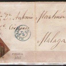 Sellos: CARTA CON FRANQUEO DE SELLO EDIFIL 40 4CU ROJO DE MADRID A MALAGA. Lote 181348596