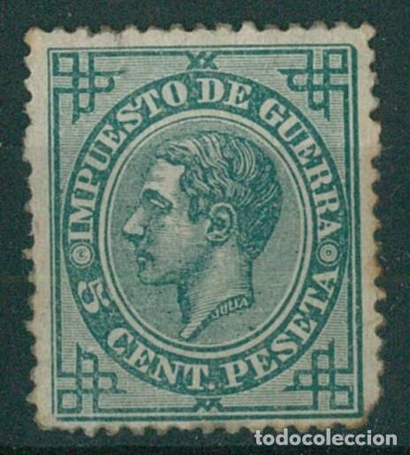 Sellos: EDIFIL 183/187.ALFONSO XII IMPUESTO GUERRA.INCLUYE 5c.FALSO POSTAL GRAUSS Y 5c.ERROR DE COLOR. - Foto 3 - 181944100