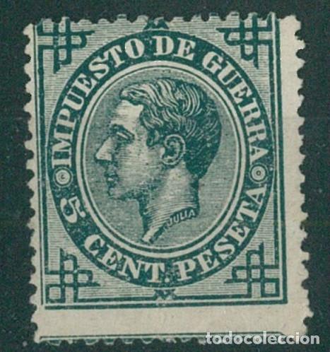 Sellos: EDIFIL 183/187.ALFONSO XII IMPUESTO GUERRA.INCLUYE 5c.FALSO POSTAL GRAUSS Y 5c.ERROR DE COLOR. - Foto 5 - 181944100